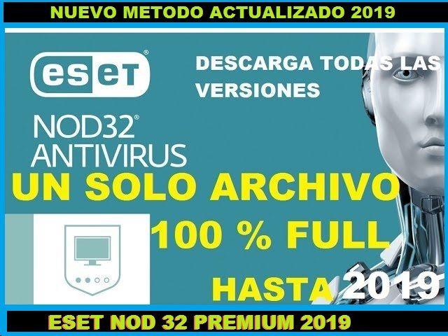 RENOVAR LICENCIA ESET NOD32 2019 WINDOWS 10, 7, 8, 100% PREMIUM - Descargar Completo Eset gratis